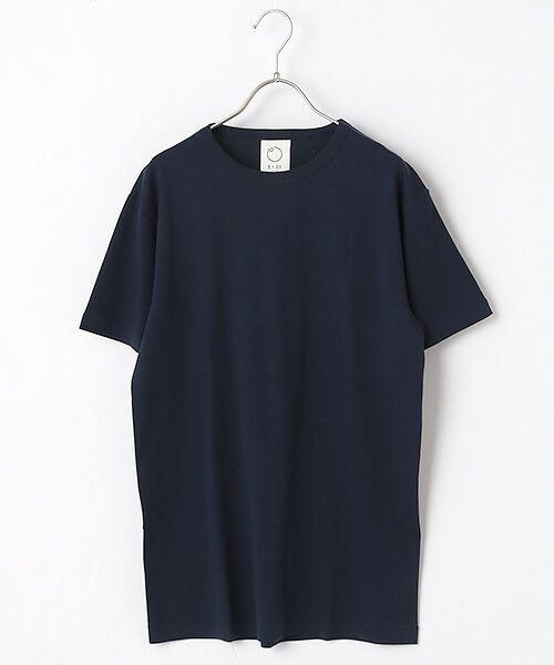 maison de F / メゾンドエフ Tシャツ | 【ガイアの夜明けでご紹介】クルーネックTシャツ(ネイビー)