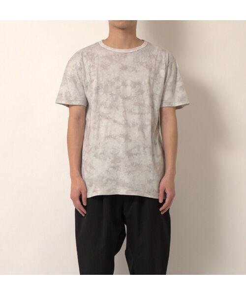 maison de F / メゾンドエフ Tシャツ | 【ガイアの夜明けでご紹介】籠染めクルーネックTシャツ(グレー)