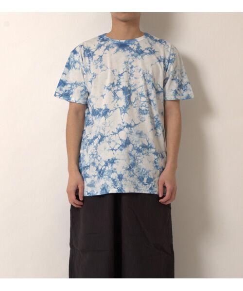 maison de F / メゾンドエフ Tシャツ | 【ガイアの夜明けでご紹介】籠染めクルーネックTシャツ(ネイビー)