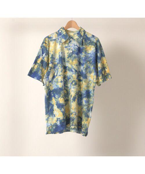 maison de F / メゾンドエフ Tシャツ | 【ガイアの夜明けでご紹介】籠染め襟付きポロTシャツ(ネイビー)