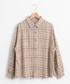 ビッグチェックシャツ