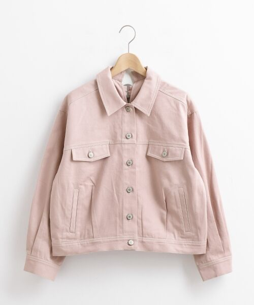 21f91771fa60 ... マジェスティックレゴン ブルゾン | バックデザインワークジャケット(ピンク) ピンク. S