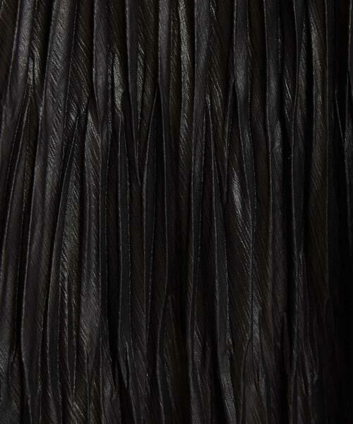 MICHEL KLEIN / ミッシェルクラン ロング・マキシ丈スカート   【洗える】チンツ加工プリーツスカート   詳細8