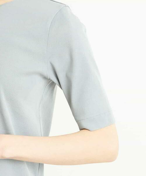 MICHEL KLEIN / ミッシェルクラン カットソー | 【洗える】クルーネックフライスTシャツ | 詳細4