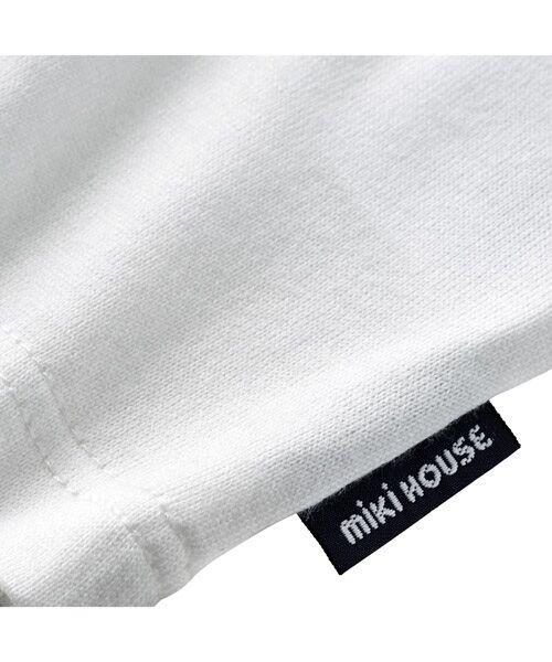 MIKI HOUSE / ミキハウス Tシャツ   ロゴ刺しゅう入り半袖Tシャツ   詳細3