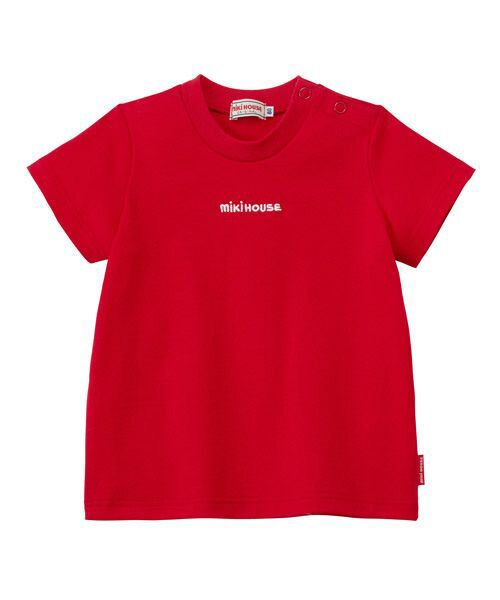 MIKI HOUSE / ミキハウス Tシャツ   ロゴ刺しゅう入り半袖Tシャツ   詳細9