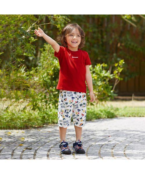 MIKI HOUSE / ミキハウス Tシャツ   ロゴ刺しゅう入り半袖Tシャツ(赤)