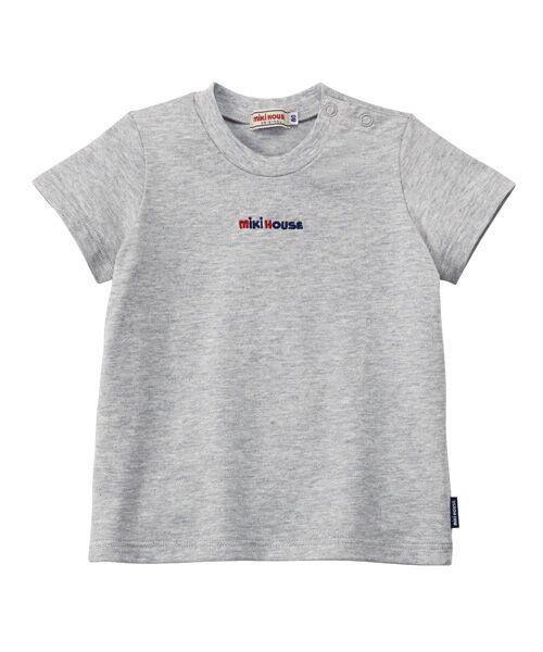 MIKI HOUSE / ミキハウス Tシャツ   ロゴ刺しゅう入り半袖Tシャツ   詳細15