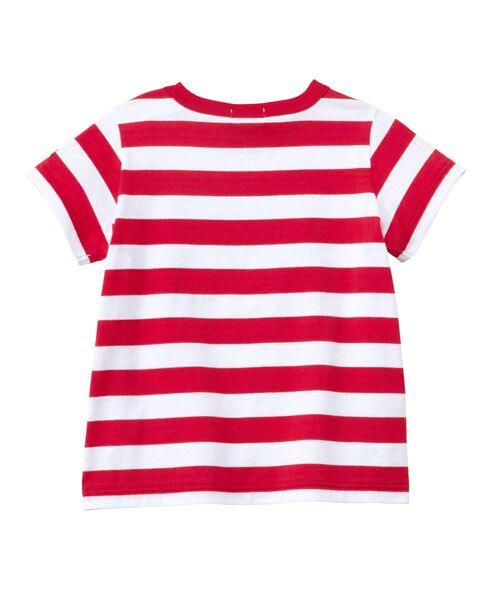 MIKI HOUSE / ミキハウス Tシャツ | プッチー ワッペン付きボーダー半袖Tシャツ(80㎝~100㎝) | 詳細1