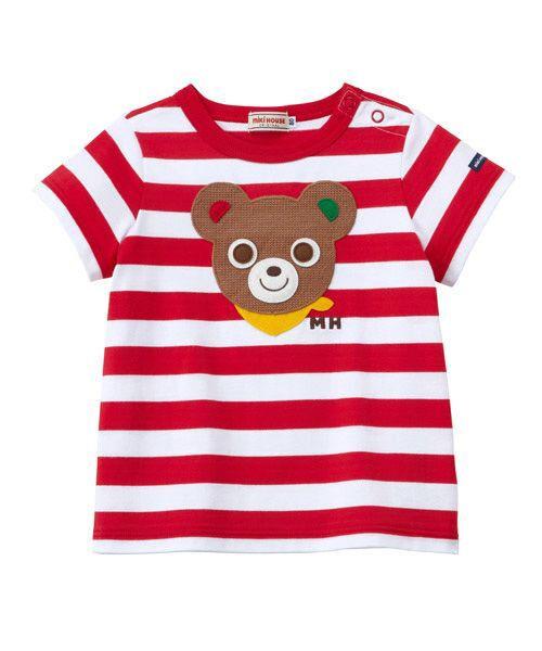 MIKI HOUSE / ミキハウス Tシャツ | プッチー ワッペン付きボーダー半袖Tシャツ(80㎝~100㎝) | 詳細5