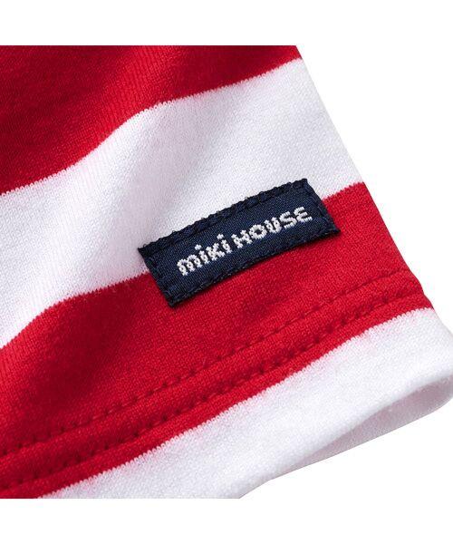 MIKI HOUSE / ミキハウス Tシャツ | プッチー ワッペン付きボーダー半袖Tシャツ(80㎝~100㎝) | 詳細3