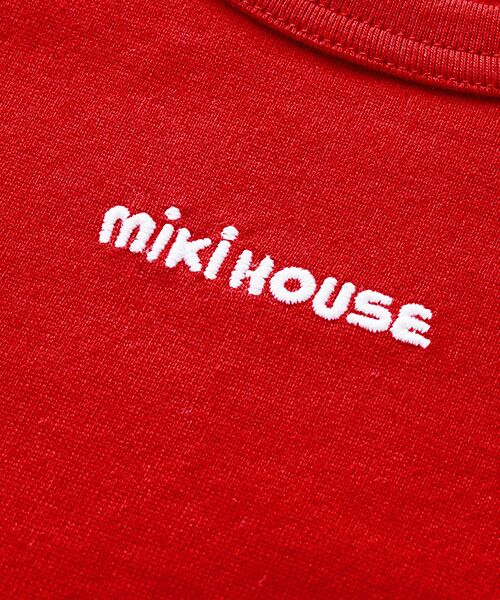 MIKI HOUSE / ミキハウス Tシャツ | ロゴ刺繍長袖Tシャツ | 詳細6