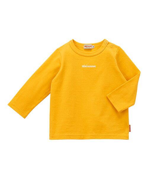 MIKI HOUSE / ミキハウス Tシャツ | ロゴ刺繍長袖Tシャツ(黄)