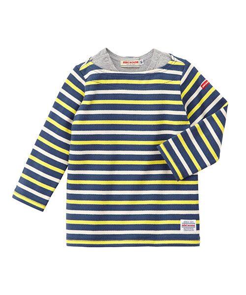 MIKI HOUSE / ミキハウス Tシャツ | ボーダー長袖Tシャツ(紺)