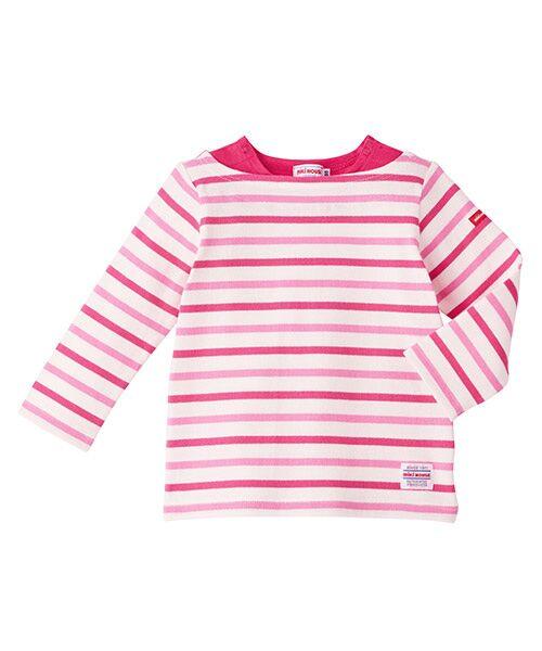 MIKI HOUSE / ミキハウス Tシャツ | ボーダー長袖Tシャツ(白xPK)