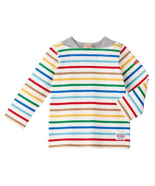 MIKI HOUSE / ミキハウス Tシャツ | ボーダー長袖Tシャツ(マルチ)