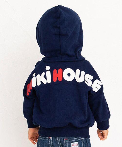 MIKI HOUSE / ミキハウス パーカー | バックロゴパーカー(紺)
