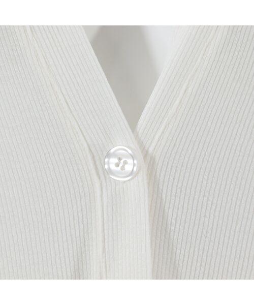 MISSEL / ミゼール カーディガン・ボレロ   サラサラピケロングカーディガン【手洗いOK】   詳細4