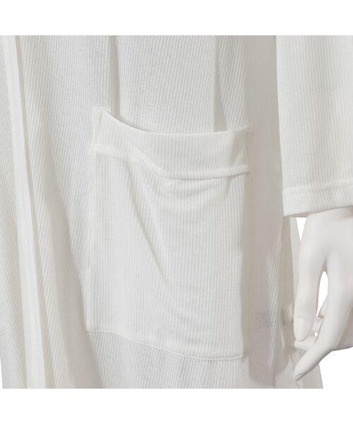 MISSEL / ミゼール カーディガン・ボレロ   サラサラピケロングカーディガン【手洗いOK】   詳細5