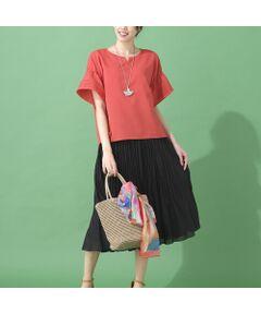 ■商品紹介■<br><b>【大きいサイズ】<br></b><font color='#0063B1'>■ナチュラルなプリーツで女性らしく♪<br>     ランダムプリーツスカートが新入荷■<br></font><br>薄手でドライなタッチのプリーツスカートです。<br>ランダムに入ったプリーツで動きのあるデザインです。<br>ウエストオールゴムでお腹周りはスッキリ快適。<br>裏地付きで脚通りも良く、広がり過ぎないフレアーシルエットで品良く体型をカバーしてくれます♪<br><br>カーキ寄りのブラウンとブラックの2色展開です。<br><br>【モデル身長172cm】<br><br>※ランダムプリーツのため、商品によってプリーツの入り具合に多少の差があります<br> 予めご了承ください<br><br>■コーディネイト■<br>ラフにTシャツと合わせても品良く決まるプリーツスカート。<br>パーカーやGジャンとのコーディネートもオススメです。<br><br><br>■商品特性■<br>素材の厚さ:薄い<br>素材の透け感:やや透ける<br>素材の光沢:光沢がない<br>素材の伸縮性:なし<br>裏地仕様:裏付き<br>ウエスト仕様:総ゴム仕様<br>シルエット:フレアー<br><br><br>■コンセプト■<br>様々なシーンに合わせてセレクトできるトータルコーディネイトブランド。<br>アクティブなライフスタイルを楽しむLサイズミセスに、エレガントかつ旬なスタイリングをご提案します。<BR>