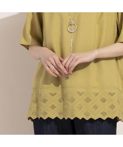 MISSEL / ミゼール シャツ・ブラウス | レーヨン麻スカラップ刺繍ブラウス | 詳細4