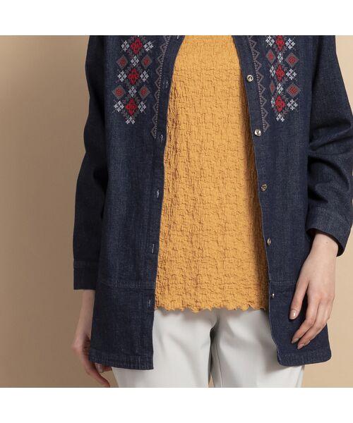MISSEL / ミゼール シャツ・ブラウス   ライトストレッチデニム刺繍入りシャツ   詳細8