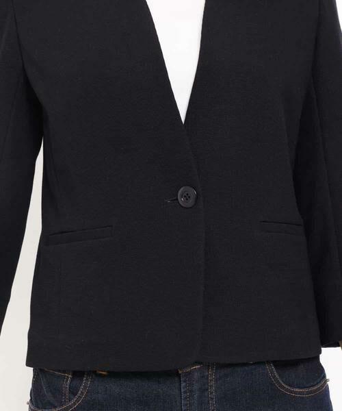 MK MICHEL KLEIN / エムケーミッシェルクラン テーラードジャケット | 【洗える】ワッフルカラーレスジャケット | 詳細10