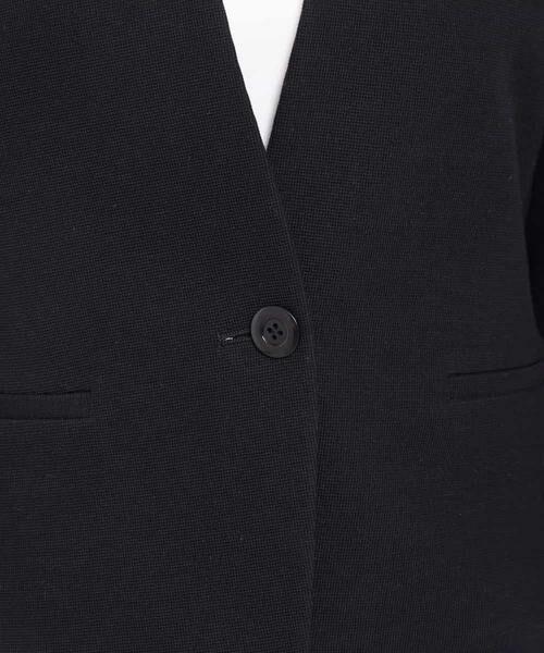 MK MICHEL KLEIN / エムケーミッシェルクラン テーラードジャケット | 【洗える】ワッフルカラーレスジャケット | 詳細11