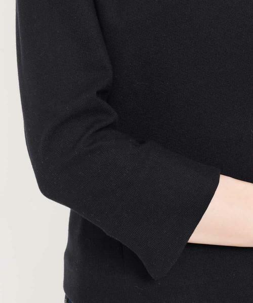MK MICHEL KLEIN / エムケーミッシェルクラン テーラードジャケット | 【洗える】ワッフルカラーレスジャケット | 詳細7