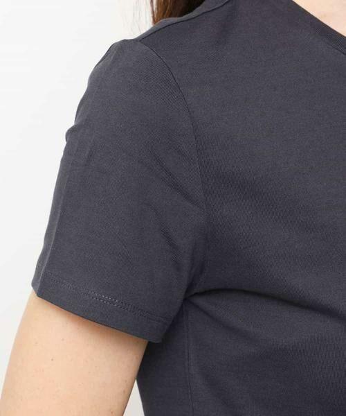MK MICHEL KLEIN / エムケーミッシェルクラン カットソー   【WEB限定/洗濯機で洗える】発泡ロゴプリントTシャツ   詳細5