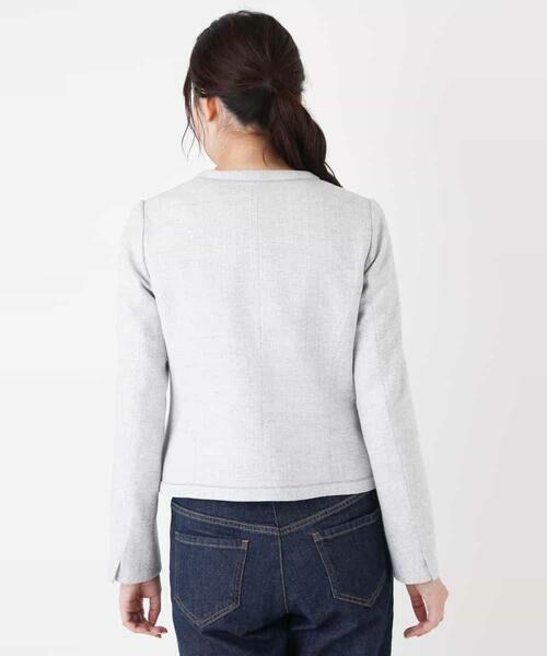 MK MICHEL KLEIN / エムケーミッシェルクラン ノーカラージャケット   【洗える】ノーカラーラメツイードジャケット   詳細7