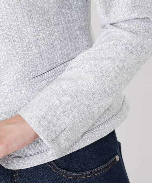 MK MICHEL KLEIN / エムケーミッシェルクラン ノーカラージャケット   【洗える】ノーカラーラメツイードジャケット   詳細9