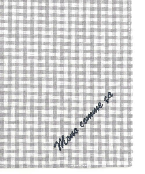 MONO COMME CA / モノコムサ ハンカチ | 【ユニセックス】 ロゴ 刺繍 ハンカチ(グレー)