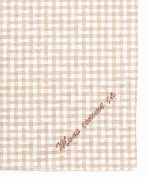 MONO COMME CA / モノコムサ ハンカチ | 【ユニセックス】 ロゴ 刺繍 ハンカチ(ベージュ)