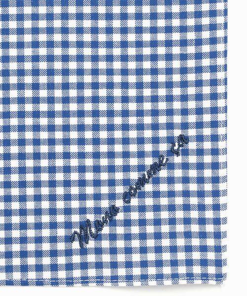 MONO COMME CA / モノコムサ ハンカチ | 【ユニセックス】 ロゴ 刺繍 ハンカチ(ブルー)