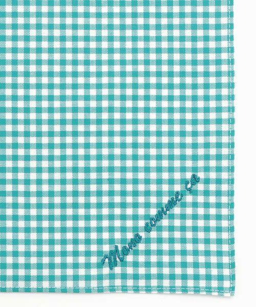 MONO COMME CA / モノコムサ ハンカチ | 【ユニセックス】 ロゴ 刺繍 ハンカチ(ターコイズブルー)