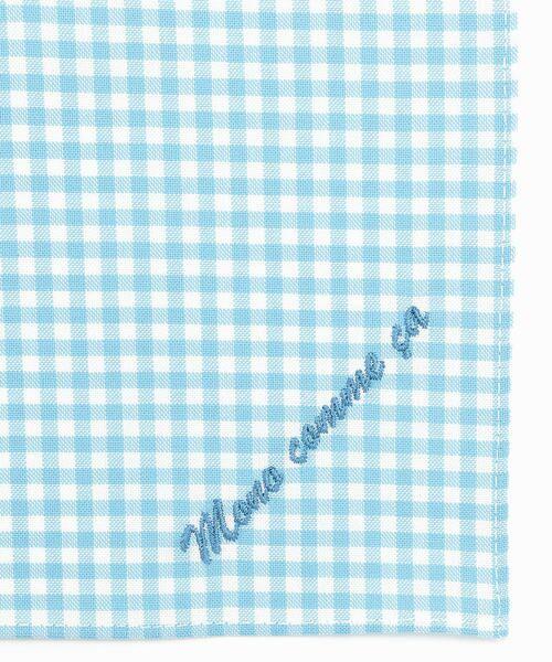MONO COMME CA / モノコムサ ハンカチ | 【ユニセックス】 ロゴ 刺繍 ハンカチ(サックス)