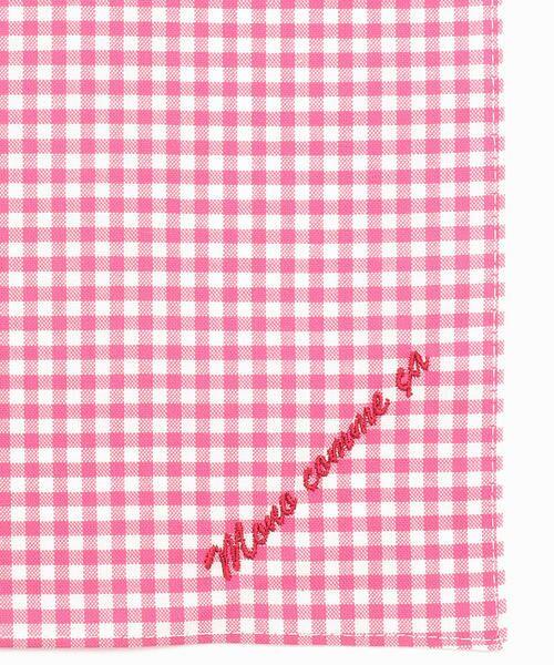 MONO COMME CA / モノコムサ ハンカチ | 【ユニセックス】 ロゴ 刺繍 ハンカチ(ピンク)