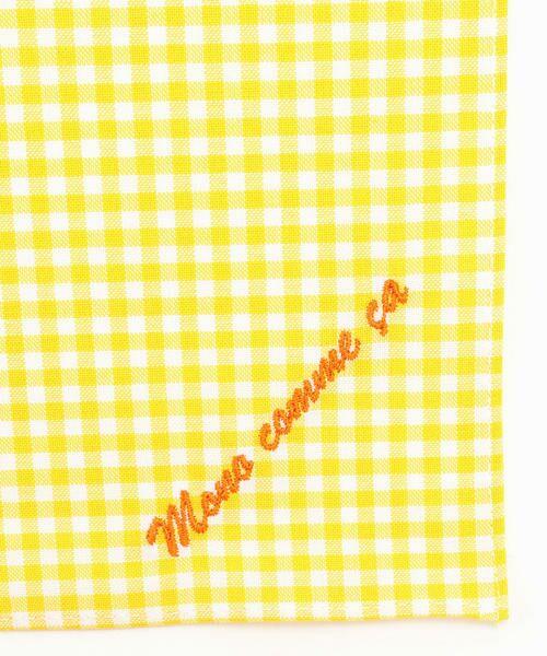 MONO COMME CA / モノコムサ ハンカチ | 【ユニセックス】 ロゴ 刺繍 ハンカチ(イエロー)