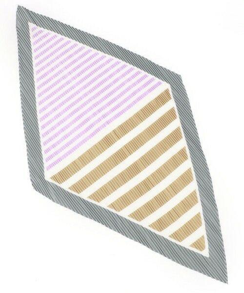 MONO COMME CA / モノコムサ バンダナ・スカーフ | プリーツスカーフ(ライトグレー)