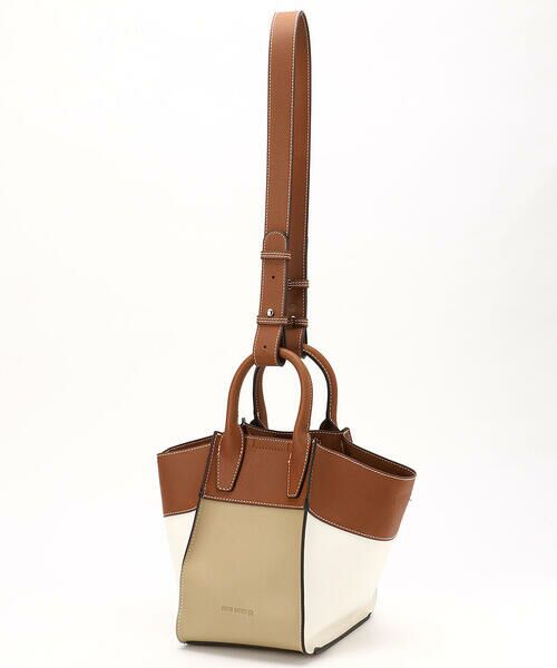 MONO COMME CA / モノコムサ ハンドバッグ   〈2WAY〉フェイクレザー 配色カラー バッグ   詳細11