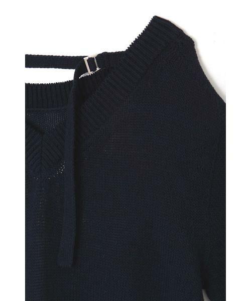 NATURAL BEAUTY / ナチュラルビューティー ニット・セーター | ◆麻調ローゲージニット | 詳細4