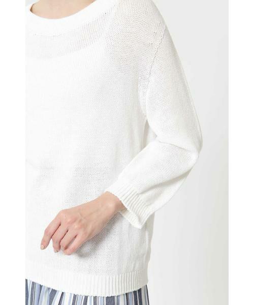 NATURAL BEAUTY / ナチュラルビューティー ニット・セーター | ◆麻調ローゲージニット | 詳細12