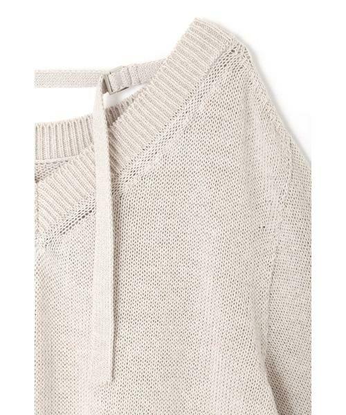 NATURAL BEAUTY / ナチュラルビューティー ニット・セーター | ◆麻調ローゲージニット | 詳細19