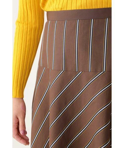 NATURAL BEAUTY / ナチュラルビューティー スカート | ◆[WEB限定商品]サテンストライプフレアースカート | 詳細8