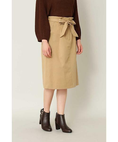 e927972994a8b ベルテッドストレートチノスカート (スカート)|NATURAL BEAUTY BASIC ...