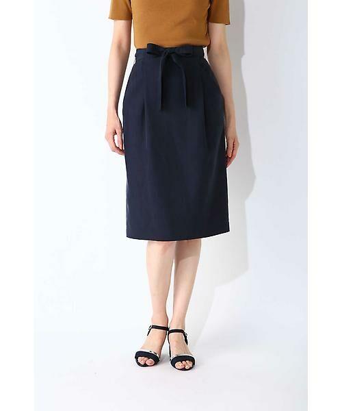 NATURAL BEAUTY BASIC / ナチュラルビューティーベーシック スカート | ウエストリボンタイトスカート | 詳細2
