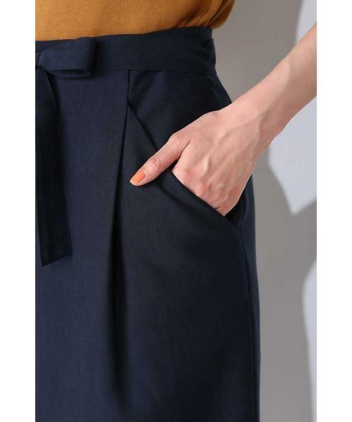 NATURAL BEAUTY BASIC / ナチュラルビューティーベーシック スカート | ウエストリボンタイトスカート | 詳細8