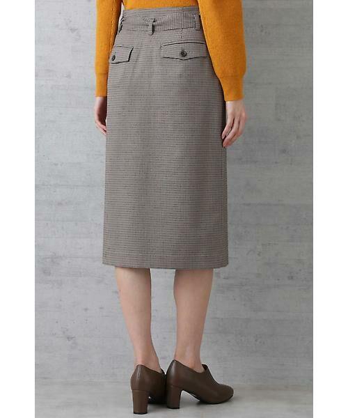 NATURAL BEAUTY BASIC / ナチュラルビューティーベーシック スカート | ベルテッドストレートスカート | 詳細4