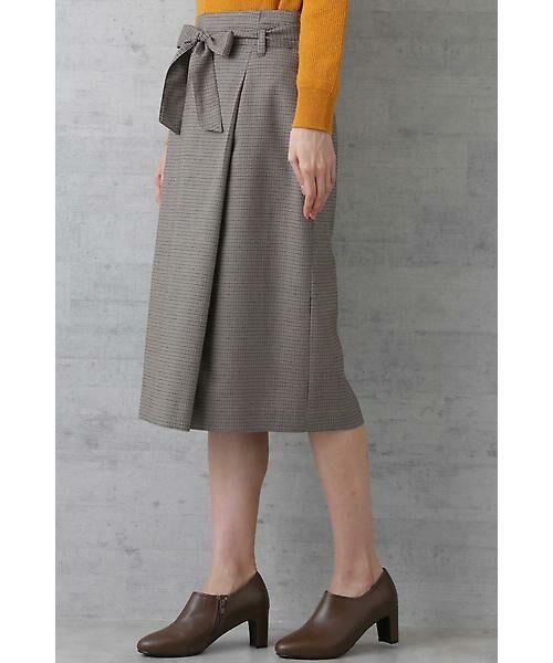 NATURAL BEAUTY BASIC / ナチュラルビューティーベーシック スカート | ベルテッドストレートスカート | 詳細5